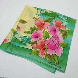 Anne Klein women silk flowers scarf